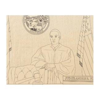 Honorable Judge Dre Judge Dre Wood Print