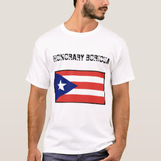 Honorary Boricua-blanco T-Shirt