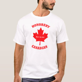 Honorary Canadian T-shirt Maple leaf Gift T-shirt