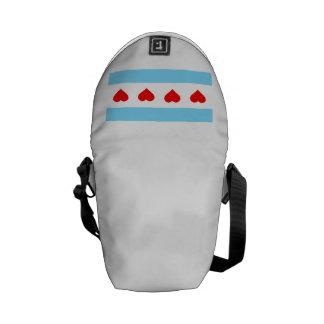 Honorary Chicago Heart Flag Messanger Shoulder Bag