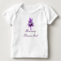 """Honorary Flower Girl"" Purple Lily Bouquet (a) Baby T-Shirt"