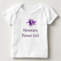 """Honorary Flower Girl"" Purple Lily Bouquet (b) Baby T-Shirt"