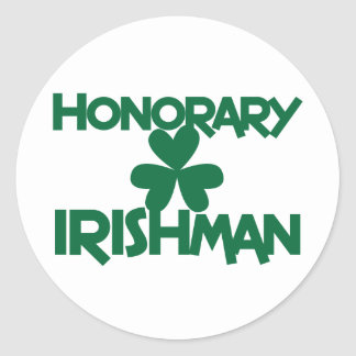 HONORARY IRISHMAN CLASSIC ROUND STICKER