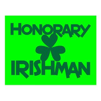 HONORARY IRISHMAN POSTCARD