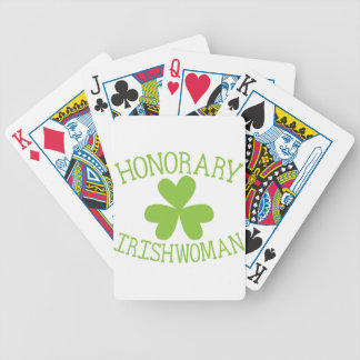 honorary irishwoman bicycle playing cards