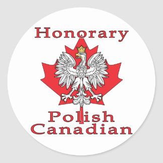 Honorary Polish Canadian Classic Round Sticker