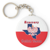 Honorary Polish Texan Keychain