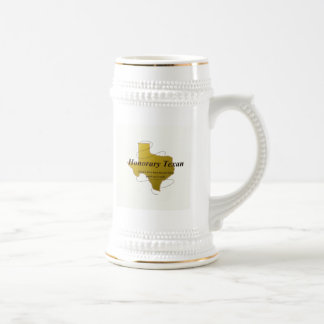 Honorary Texan Stein 18 Oz Beer Stein