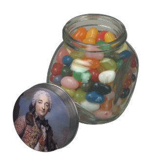 Honore Armand,Duke of Villars by Maurice La Tour Jelly Belly Candy Jar