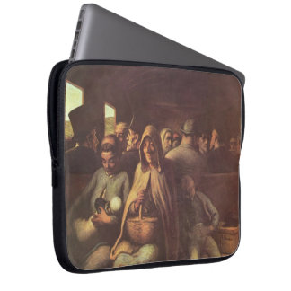 Honore Daumier- A Wagon of the Third Class Laptop Computer Sleeve