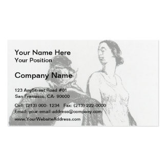 Honore Daumier Beautiful injury Business Card Template
