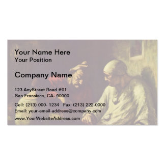 Honore Daumier- Catch the juggler Business Cards