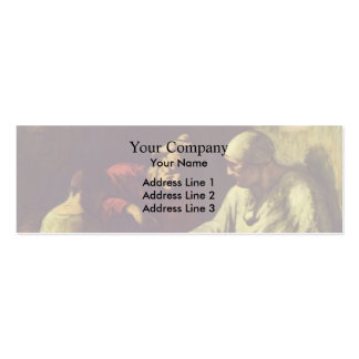 Honore Daumier- Catch the juggler Business Card Template