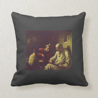 Honore Daumier- Catch the juggler Pillows