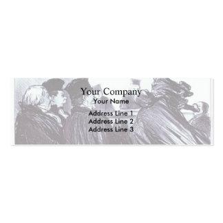 Honore Daumier Conclusión de un discurso Demosthe Plantilla De Tarjeta De Visita