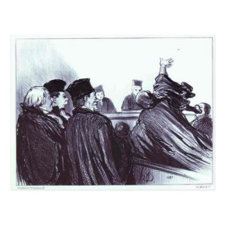 Honore Daumier: Conclusion of a Speech Demosthene Postcard