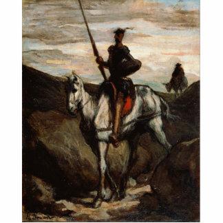 Honore Daumier - Don Quijote en las montañas Fotoescultura Vertical