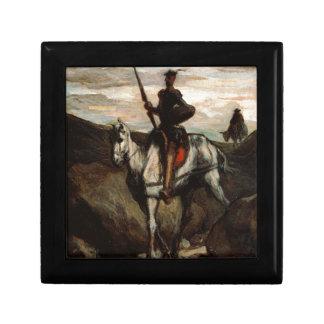 Honore Daumier - Don Quijote en las montañas Joyero Cuadrado Pequeño