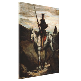 Honore Daumier - Don Quixote in the Mountains Canvas Print