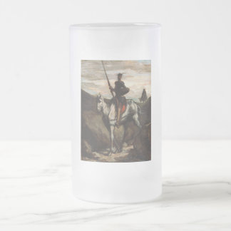 Honore Daumier - Don Quixote in the Mountains Frosted Glass Beer Mug
