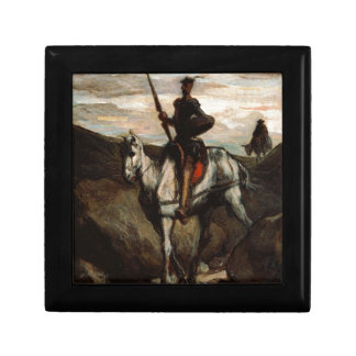 Honore Daumier - Don Quixote in the Mountains Keepsake Box