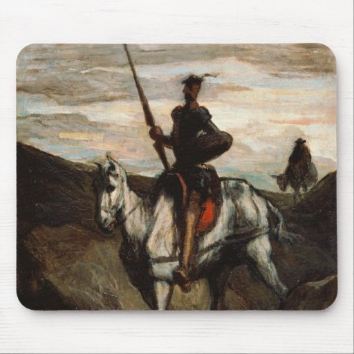 Honore Daumier - Don Quixote in the Mountains Mousepads