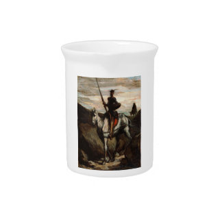 Honore Daumier - Don Quixote in the Mountains Drink Pitchers