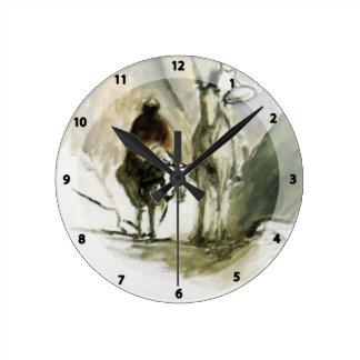 Honore Daumier- Don Quixote, Sancho Pansa Clock