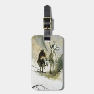 Honore Daumier- Don Quixote, Sancho Pansa Tag For Luggage