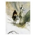 Honore Daumier- Don Quixote, Sancho Pansa Postcard