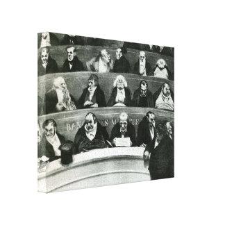Honore Daumier: El Belly legislativo Lona Estirada Galerias