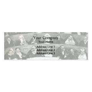 Honore Daumier El Belly legislativo Tarjeta Personal