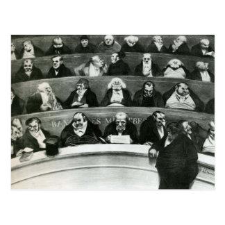 Honore Daumier: El Belly legislativo Tarjeta Postal