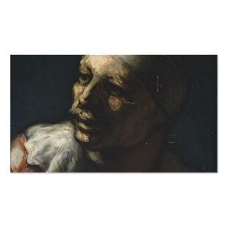Honore Daumier- Head of Pasquin Business Card