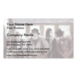 Honore Daumier- In the Omnibus Business Card
