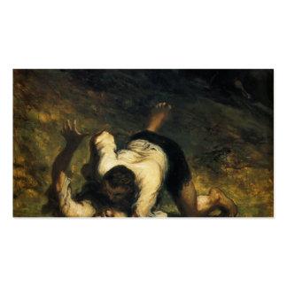 Honore Daumier- los ladrones y el burro Tarjetas De Visita
