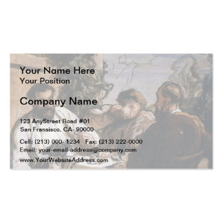 Honore Daumier- Lunch in the Country Business Cards