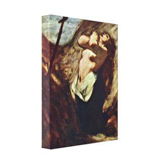 Honore Daumier - Maria Magdalena Impresión En Lona
