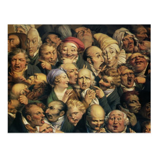 Honore Daumier:Meeting of heads of expression Postcard