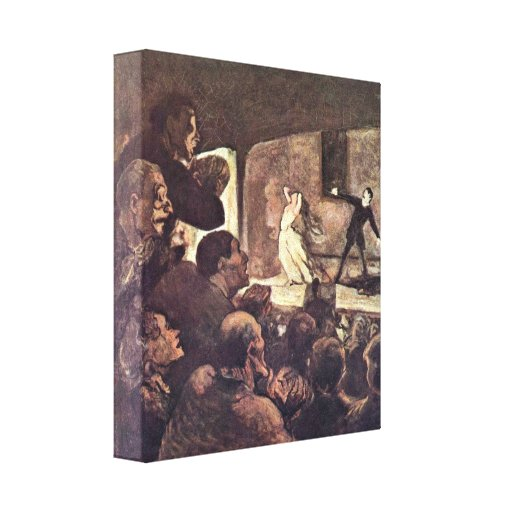 Honore Daumier - Melodrama Canvas Prints