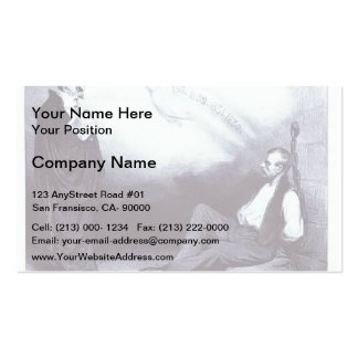 Honore Daumier Modern Galilee Business Card Template