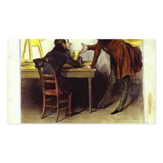 Honore Daumier Mr Daumier Business Card Templates