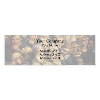 Honore Daumier Reunión de jefes de la expresión Plantilla De Tarjeta Personal