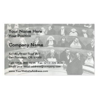 Honore Daumier The Legislative Belly Business Cards