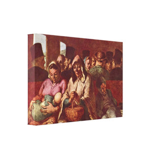 Honore Daumier - third-class compartment Canvas Prints