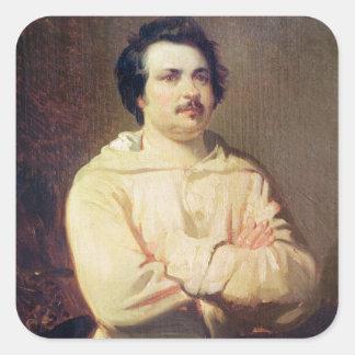 Honore de Balzac en el hábito de su monje, 1829 Colcomanias Cuadradas Personalizadas
