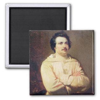Honore de Balzac  in his Monk's Habit, 1829 2 Inch Square Magnet