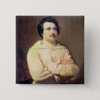 Honore de Balzac  in his Monk's Habit, 1829 Button