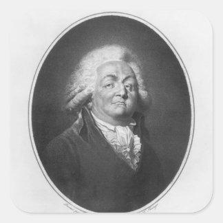 Honore Gabriel Riqueti, Comte de Mirabeau Pegatina Cuadrada