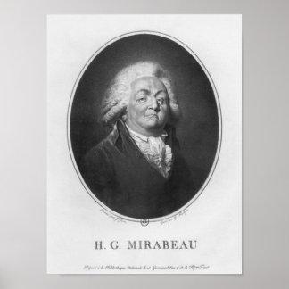 Honore Gabriel Riqueti, Comte de Mirabeau Póster